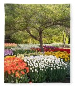 Tulip Garden Fleece Blanket