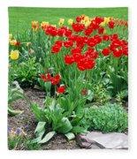 Tulip Gardenscape Fleece Blanket