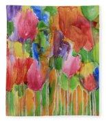 Tulip Palooza Fleece Blanket