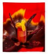 Tulip Stamp Fleece Blanket