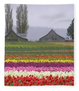 Tulip Town Barns Fleece Blanket