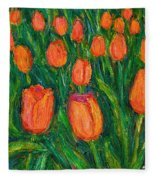 Tulip Twirl Fleece Blanket
