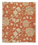 Tulip Wallpaper Design Fleece Blanket