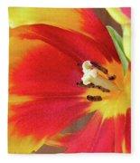 Tulip Warm Tones Fleece Blanket