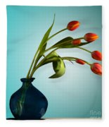 Tulips 6 Fleece Blanket