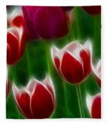 Tulips-6823-fractal Fleece Blanket