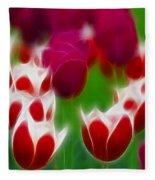 Tulips-6848-fractal Fleece Blanket