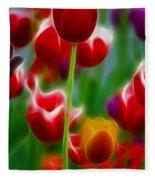 Tulips-7069-fractal Fleece Blanket