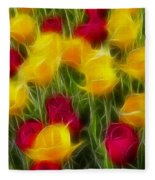 Tulips-7106-fractal Fleece Blanket