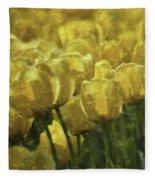 Tulips All Over Fleece Blanket