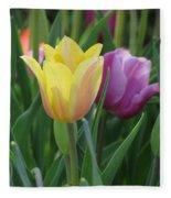 Tulips - Caring Thoughts 03 Fleece Blanket