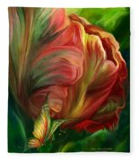 Tulips - Colors Of Paradise Fleece Blanket