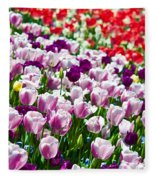 Tulips Field Fleece Blanket