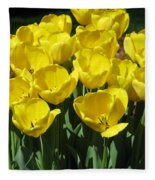 Tulips - Field With Love 18 Fleece Blanket