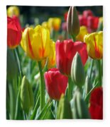 Tulips - Field With Love 22 Fleece Blanket