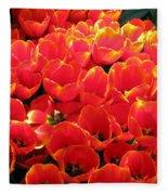 Tulips - Field With Love 28 Fleece Blanket