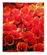 Tulips - Field With Love 29 Fleece Blanket