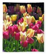 Tulips - Field With Love 35 Fleece Blanket