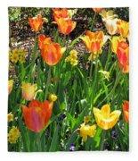 Tulips - Field With Love 41 Fleece Blanket