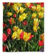 Tulips - Field With Love 49 Fleece Blanket