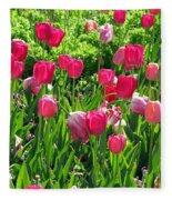 Tulips - Field With Love 54 Fleece Blanket