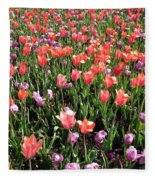 Tulips - Field With Love 56 Fleece Blanket