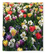 Tulips - Field With Love 58 Fleece Blanket