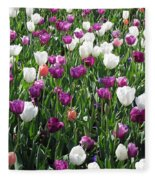 Tulips - Field With Love 60 Fleece Blanket