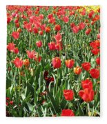 Tulips - Field With Love 61 Fleece Blanket