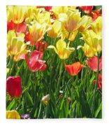 Tulips - Field With Love 65 Fleece Blanket