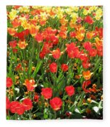 Tulips - Field With Love 68 Fleece Blanket