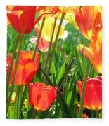 Tulips - Field With Love 69 Fleece Blanket