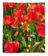 Tulips - Field With Love 71 Fleece Blanket