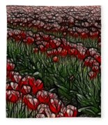 Tulips Fields Are Forever Fleece Blanket