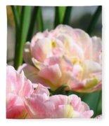 Tulips Flowers Garden Art Prints Pink Tulip Floral Fleece Blanket