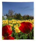 Tulips Galore  Fleece Blanket