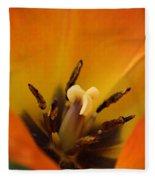 Tulip's Heart Fleece Blanket