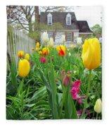 Tulips In Williamsburg Fleece Blanket