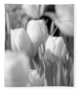 Tulips - Infrared 11 Fleece Blanket