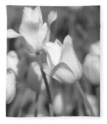 Tulips - Infrared 14 Fleece Blanket