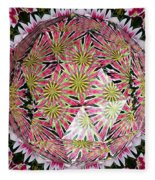 Tulips Kaleidoscope Under Polyhedron Glass Fleece Blanket