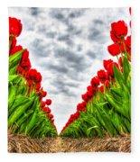 Tulips Part IIi Fleece Blanket