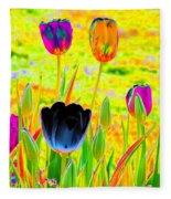 Tulips - Perfect Love - Photopower 2169 Fleece Blanket