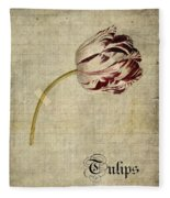 Tulips - S01bt2t Fleece Blanket