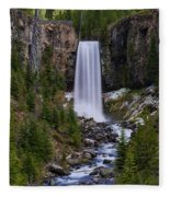 Tumalo Falls - Oregon Fleece Blanket
