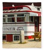 Tumble Inn Diner Claremont Nh Fleece Blanket by Edward Fielding