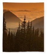 Tumtum Peak At Sunset Fleece Blanket