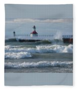 Tumultuous Lake Fleece Blanket