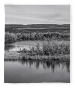 Tundra Pond Reflections Fleece Blanket