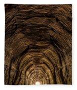 Tunnel 3 On Elroy To Sparta Bike Trail Wisconsin Fleece Blanket